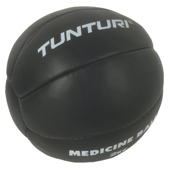 Tunturi Medicine ball Kunstleer 2 kg zwart  14TUSBO102