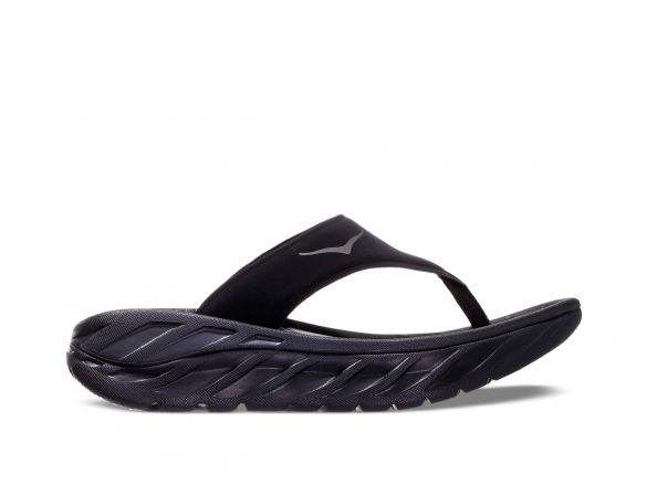 Hoka One One ORA Recovery Flip slippers zwart dames  1099676-BDGGR