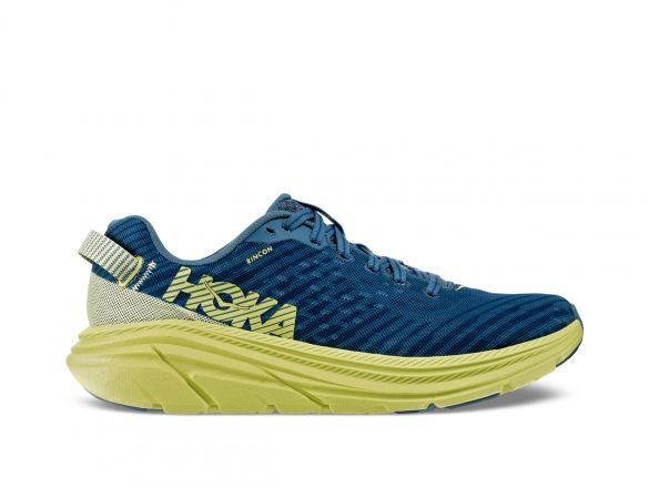 Hoka One One Rincon hardloopschoenen blauw/lime dames  1102875-ABLSB