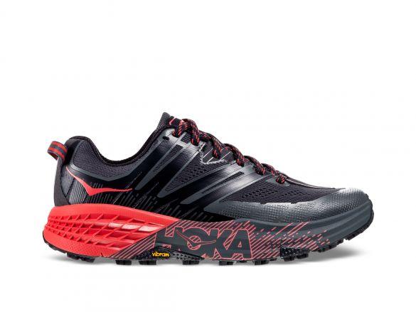 Hoka One One Speedgoat 3 trail hardloopschoenen zwart/roze dames  1099734-DSPRD