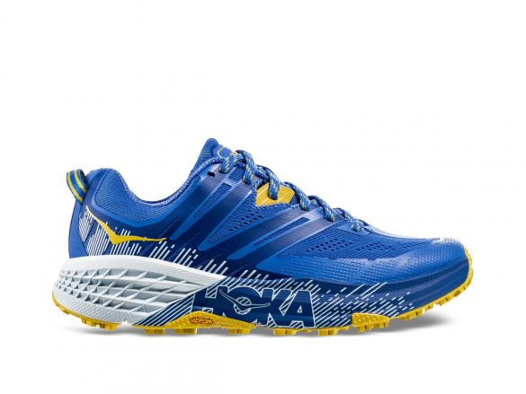 Hoka One One Speedgoat 3 trail hardloopschoenen blauw/geel dames  1099734-PBBM-VRR