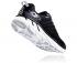 Hoka One One Clifton 6 hardloopschoenen zwart/wit heren  1102872-BWHT
