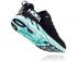 Hoka One One Clifton 6 hardloopschoenen zwart/blauw dames  1102873-BASY-VRR